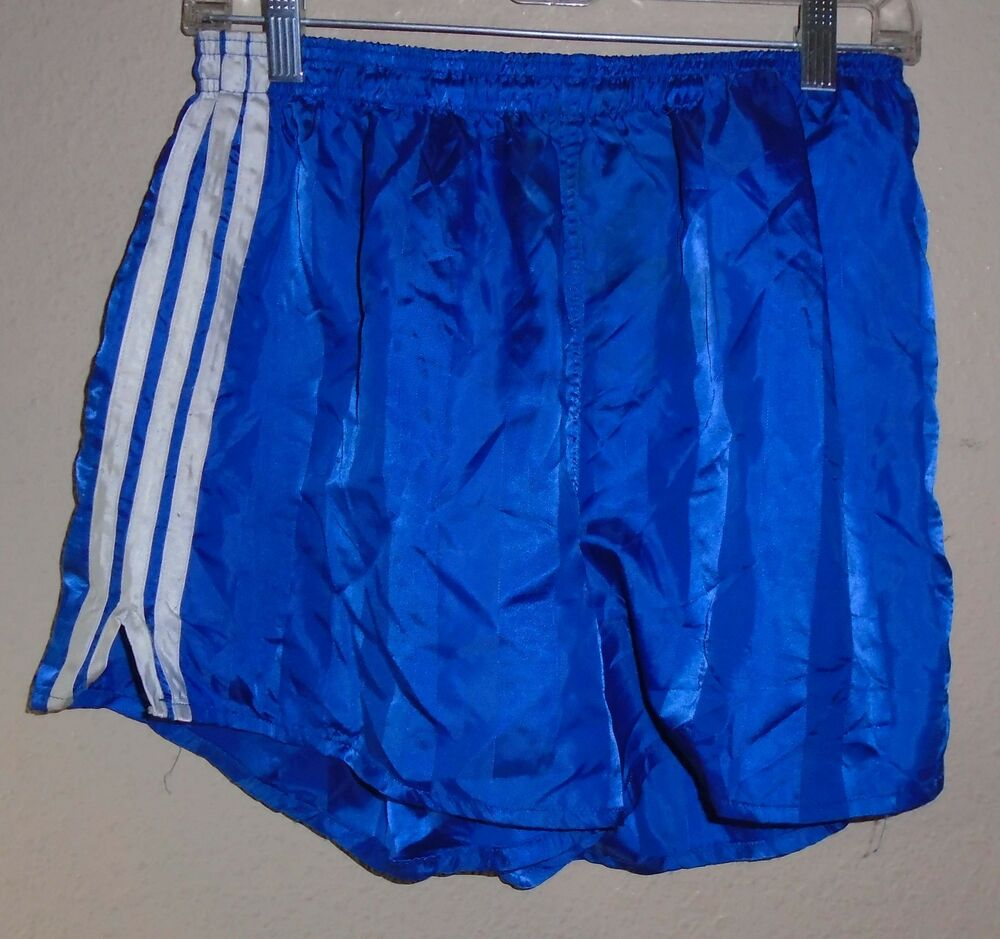944fca2fefd0 Details about vintage Adidas Nylon Size 8 Soccor Track Shorts blue