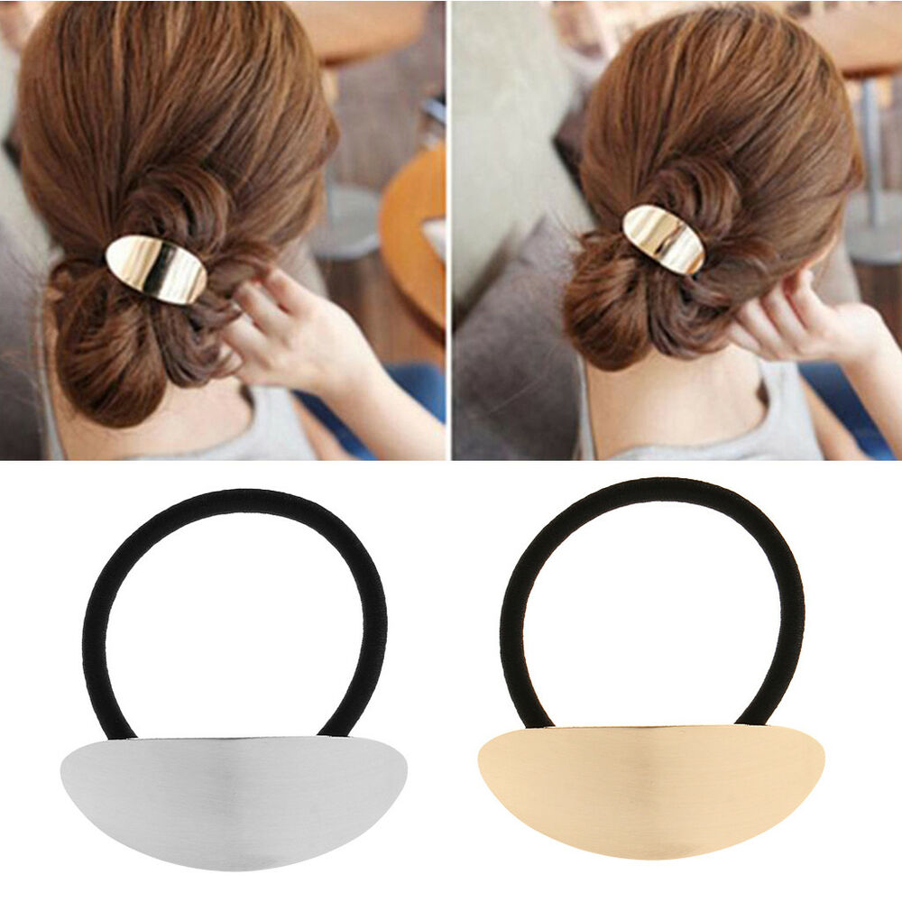 Details about Hair Ponytail Ring Elastic Band Cuff Cover Rope Holder Women  Hairband Ties d69d2ea42e9