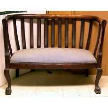 Vintage Loveseat with Claw Feet