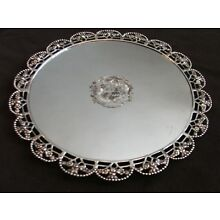 Antique English Coat of Arms Sterling Silver Salver 1832 Charles Price London