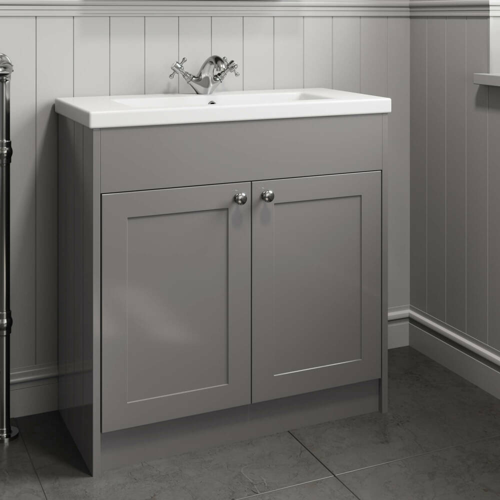 800mm Bathroom Vanity Unit Basin Sink Storage Cabinet