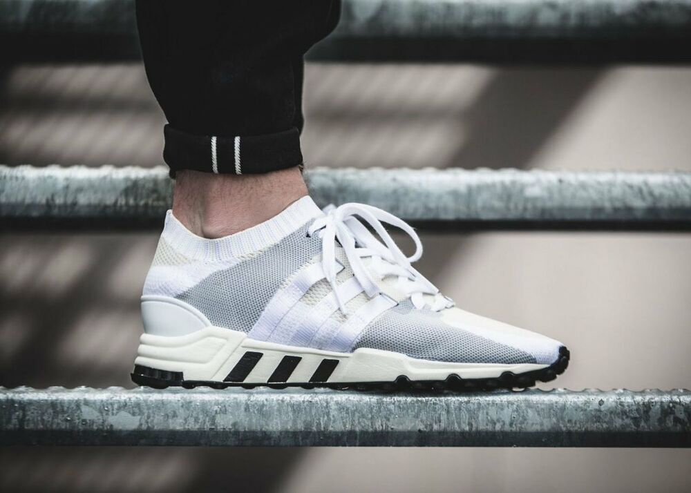 hot sale online 7ab45 9027e Details about NEW Adidas EQT Support RF PK Mens Running Shoes Off White  Black PRIMEKNIT BA7507