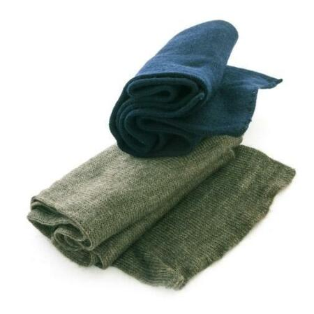 img-Swedish army military surplus wool scarf, BLUE or OLIVE