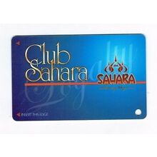 SAHARA Las Vegas Casino Hotel SLOT CARD / Players Club Card - BLANK  / Unused