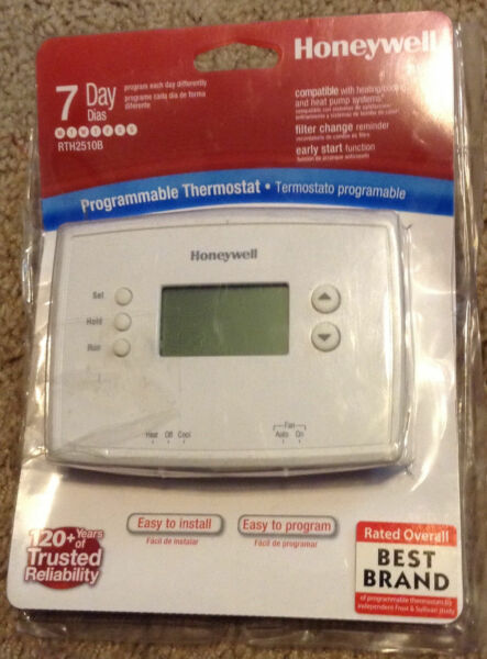 Honeywell Digital 7 Day Programmable Thermostat New Open Package RTH2510b