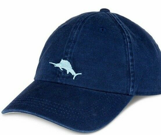 Details about NEW Tommy Bahama Relax Men s Dark Blue Hat Baseball Cap  Swordfish Strap Adjust a53bd444a0e6