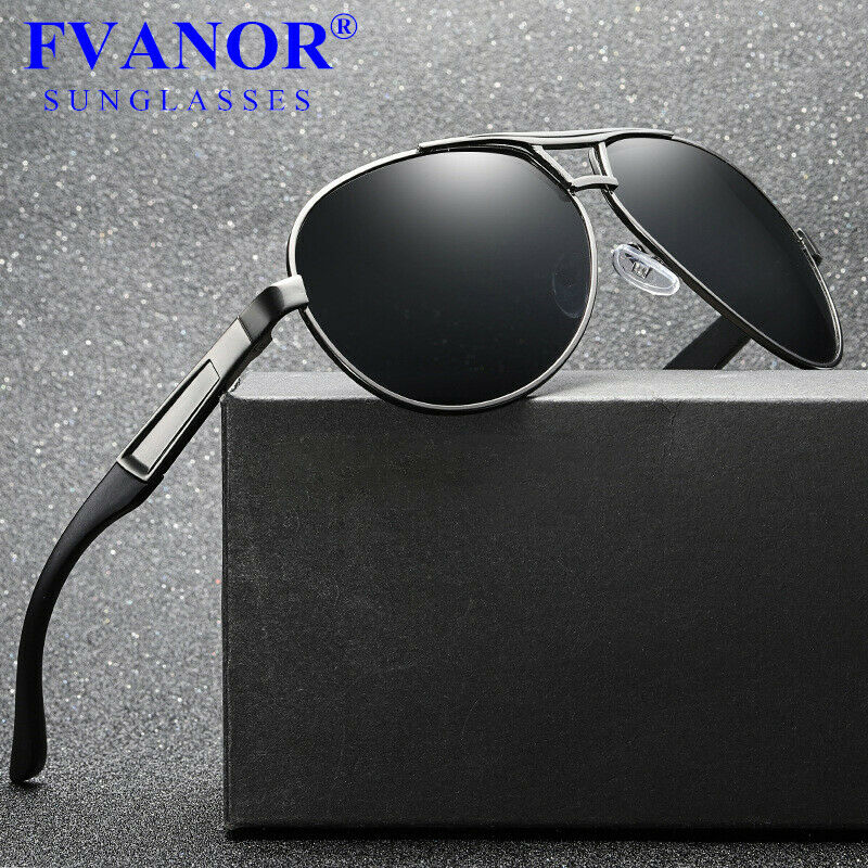 0eeca58927 Details about Men s Retro HD Polarized Metal Pilot Sunglasses Glasses  Driving Fishing Eyewear