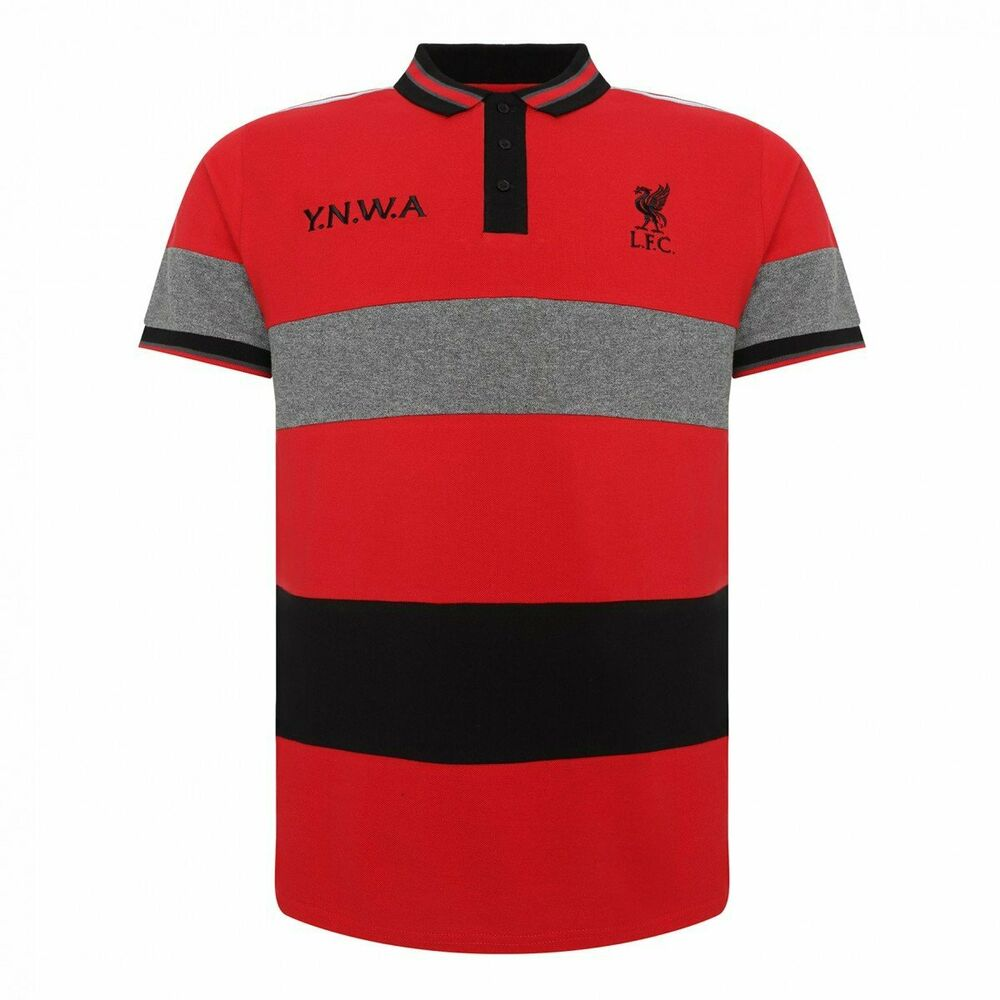 90a0a6095 Details about Liverpool FC Striped Polo Shirt