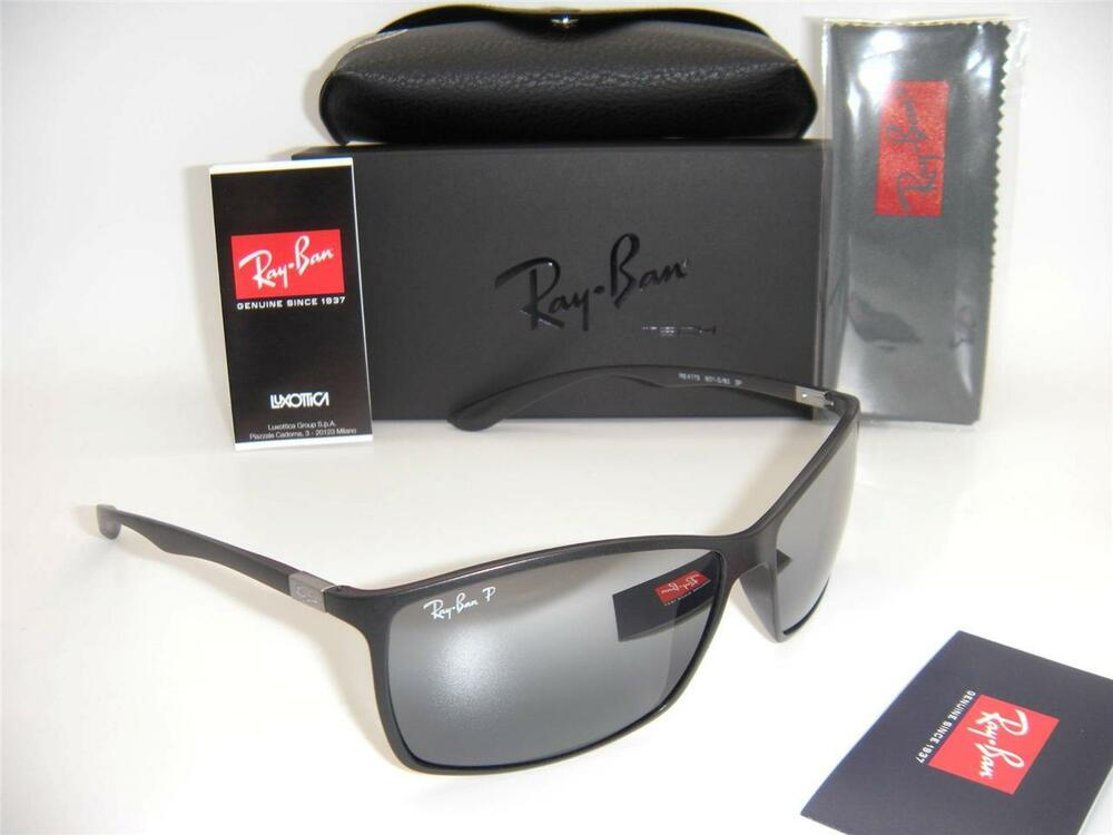 f1868038f5 Details about RAY-BAN LITEFORCE RB 4179 601-S 82 62mm MATTE BLACK   SILVER  MIRROR POLARIZED