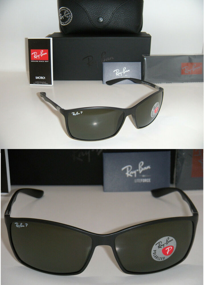 9115252cb4a RAY BAN TECH LITEFORCE RB 4179 601-S 9A 62mm MATTE BLACK WITH GREEN  POLARIZED 713132449325