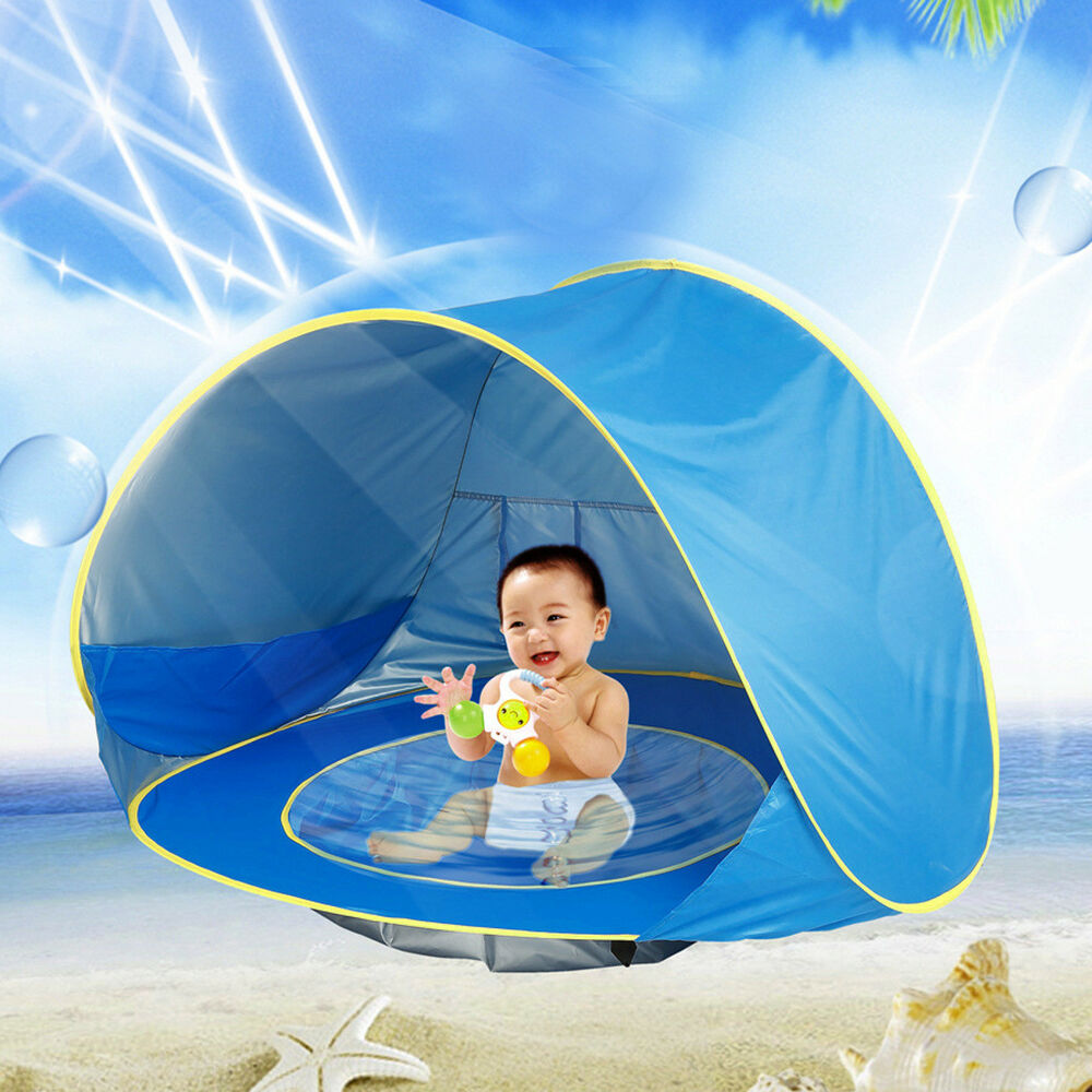 Blue Baby Infant Beach Tent Pop Up Portable Shade Pool Uv