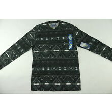 NWT $45 Polo Ralph Lauren Men's Beacon Print Waffle-Knit Thermal Size Med -Grey