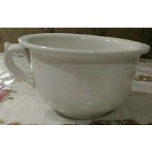 ANTIQUE IRONSTONE CHAMBER POT BY INTERNATIONAL POTTERY CO. TRENTON N.J.