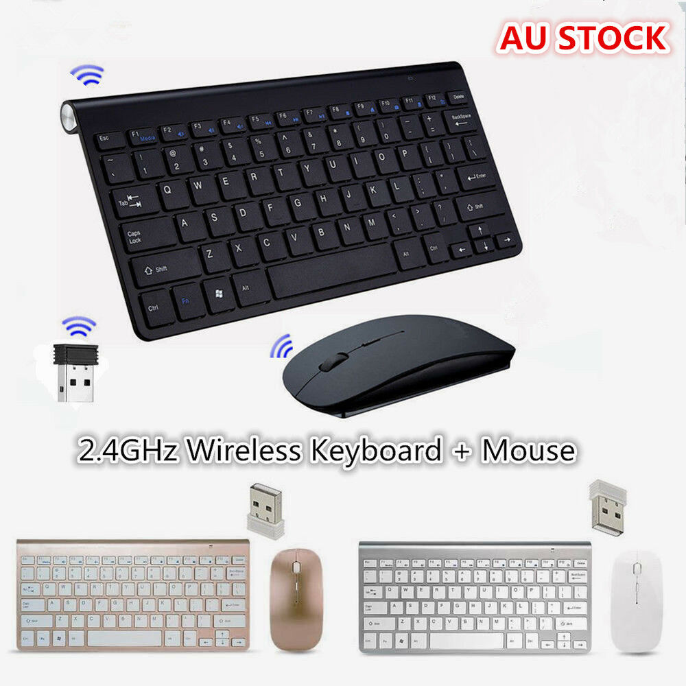 42583e67d4f Details about NEW USB 2.4GHz Wireless Keyboard + Mouse For APPLE PC Laptop  iMac Windows 7/8/10