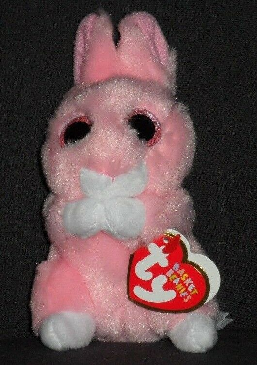 722db4b2509 ... UPC 008421368747 product image for 2018 Easter Ty Basket Beanies Jasper  The Pink Bunny Rabbit 3.5