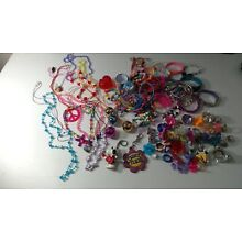 Young Girls Jewelry Lot 123pc Fashion Play Dress up Necklaces Rings Bracelets