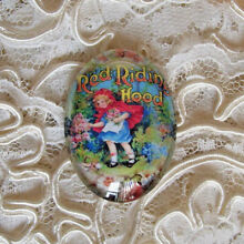 Little Red Riding Hood 30X40mm Glitter Unset Handmade Art Bubble Cameo Cabochon