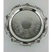 Silver Plate On Copper Serving Plate Heavy Footed Tray W. & S. Blackinton Co.