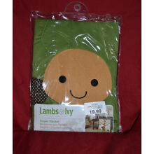 NEW-Lambs & and Ivy Diaper Stacker/Echo-Turtle/Green-Brown-Gold/Baby Boys