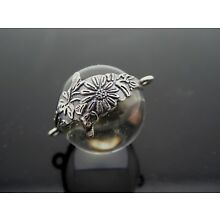Genuine Pool Of Light Sterling Silver 925 Floral Orb Pendant Component 1 Piece
