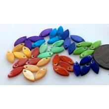 Vintage 4 x 10mm Colorful Shell Drop Beads Charms Mix 40