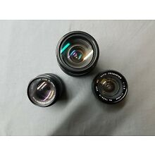 Lot Of Canon Camera Lenses 35-105mm, 35-80m, 50mm 1:1.4