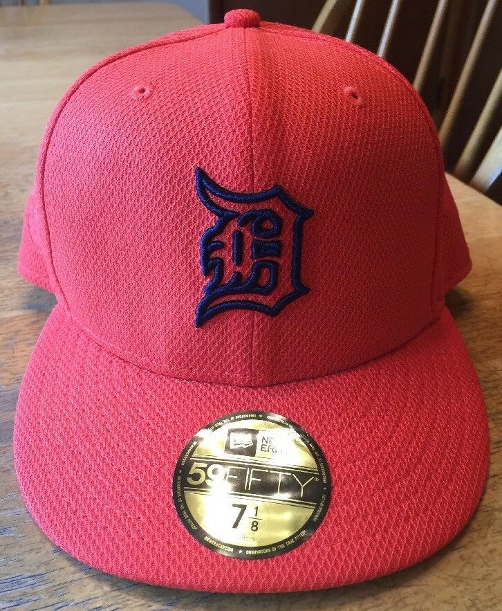 4b5696a18fdca Details about New Mlb Detroit Tigers New Era 59Fifty Orange Road Cap Hat  Size 7 1 8