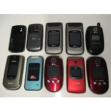 Lot of 10 VINTAGE Cell Phones - LG NOKIA KYOCERA TESTED AND WORKING!