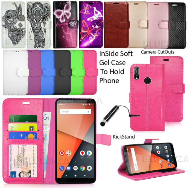 For Vodafone Smart X9 VFD820 Phone Case Wallet Cover Leather Book +Touch Stylus