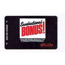 Las Vegas SANDS Casino Hotel SLOT CARD Players Club SANDSATIONAL BONUS