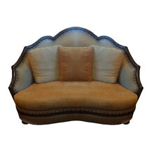Vintage High-end Designer Sofa Couch Loveseat COMFY ! Art Deco Nouveau Victorian