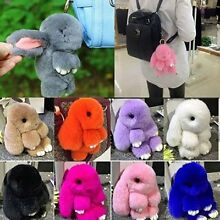 Pom Pom Keychain Bunny Doll Ball Rex Ring Fur Bag Rabbit Handbag Pendant