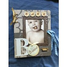 Baby Boy Blessed Memory Book Scrapbook Photo Picture Album