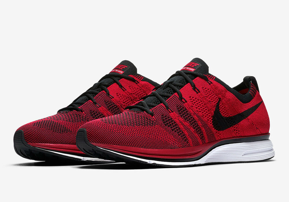 b926401fce8 Details about NIKE FLYKNIT TRAINER SHOES RED BLACK WHITE AH8396 601 MENS  TRAINING $150 RETAIL