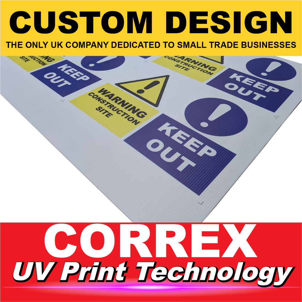 Details about custom printed correx signs rigid and fast prints site boards same day service