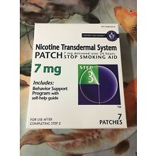 Habitrol® Nicotine Transdermal System Patch Step 3  (7 Patches) 7 mg Exp 02/2020