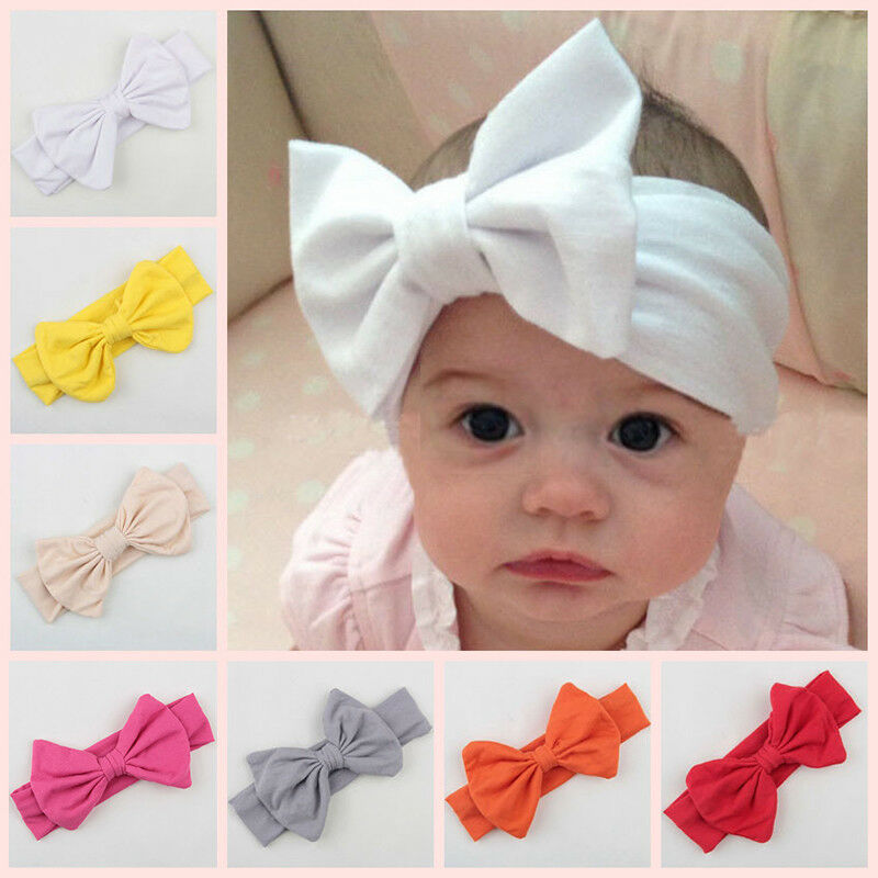 Details about Infant Kids Girl Baby Toddler Big Bow Knot Headband Hair Band  Headwear Head Wrap a2719ddf21f