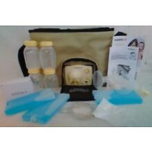 NIB MEDELA Advanced Personal Double Breast Pump Bottles Cold Packs Power #57065