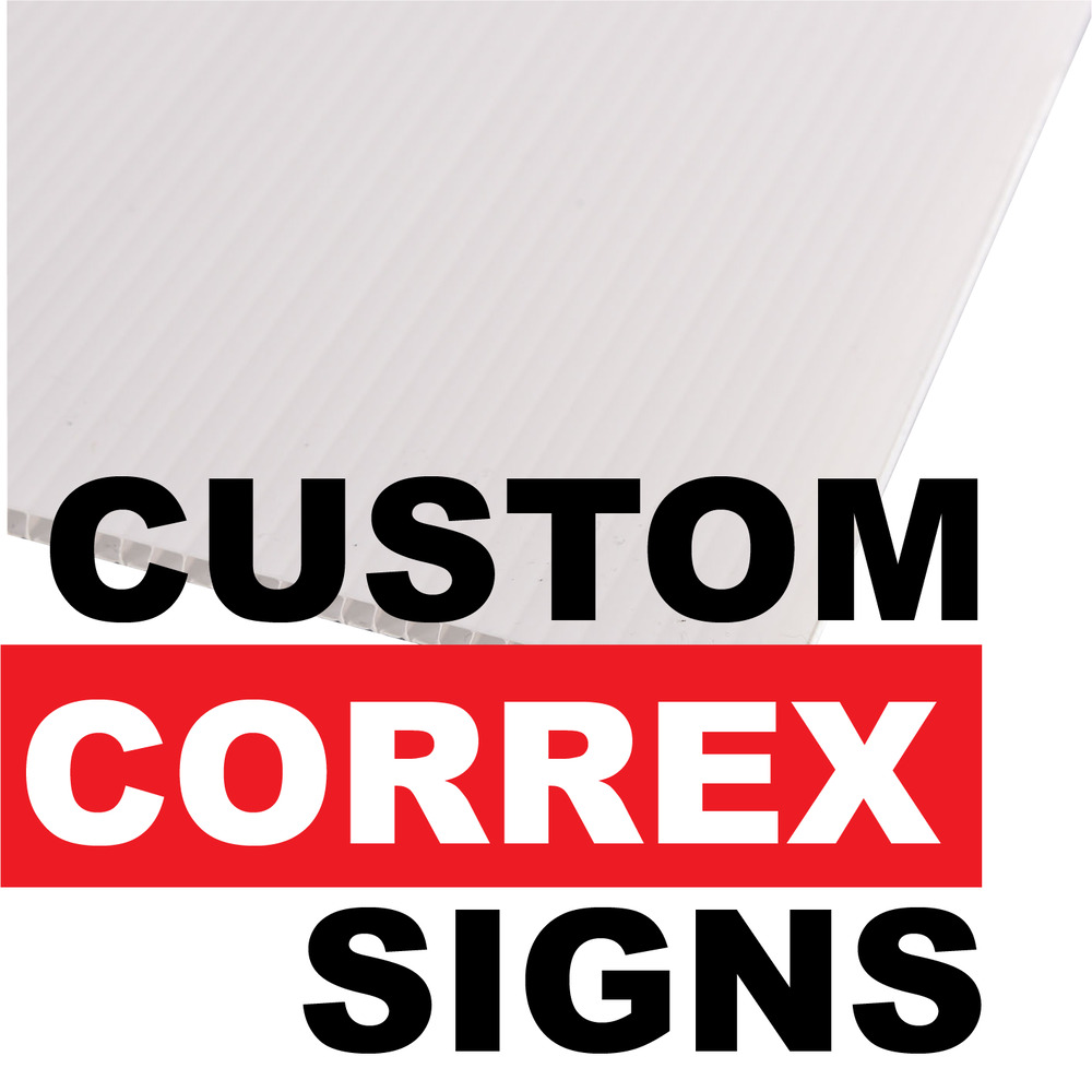 Details about custom printed correx signs same day printing fast reliable cheap boards advert