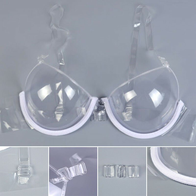 Neuf Transparent Soutien-Gorge Push-Up Ruban Invisible Femme Armatures 32-42   897aa17a98a