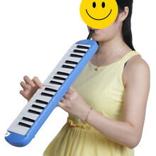 ABS 37 Key Blue Melodica Harmonica & Exclusive Carrying Case