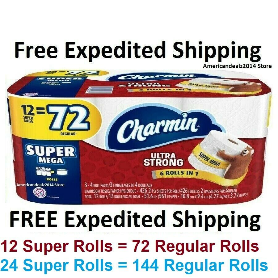 Charmin Super Mega Ultra Strong Toilet Paper Roll Bath