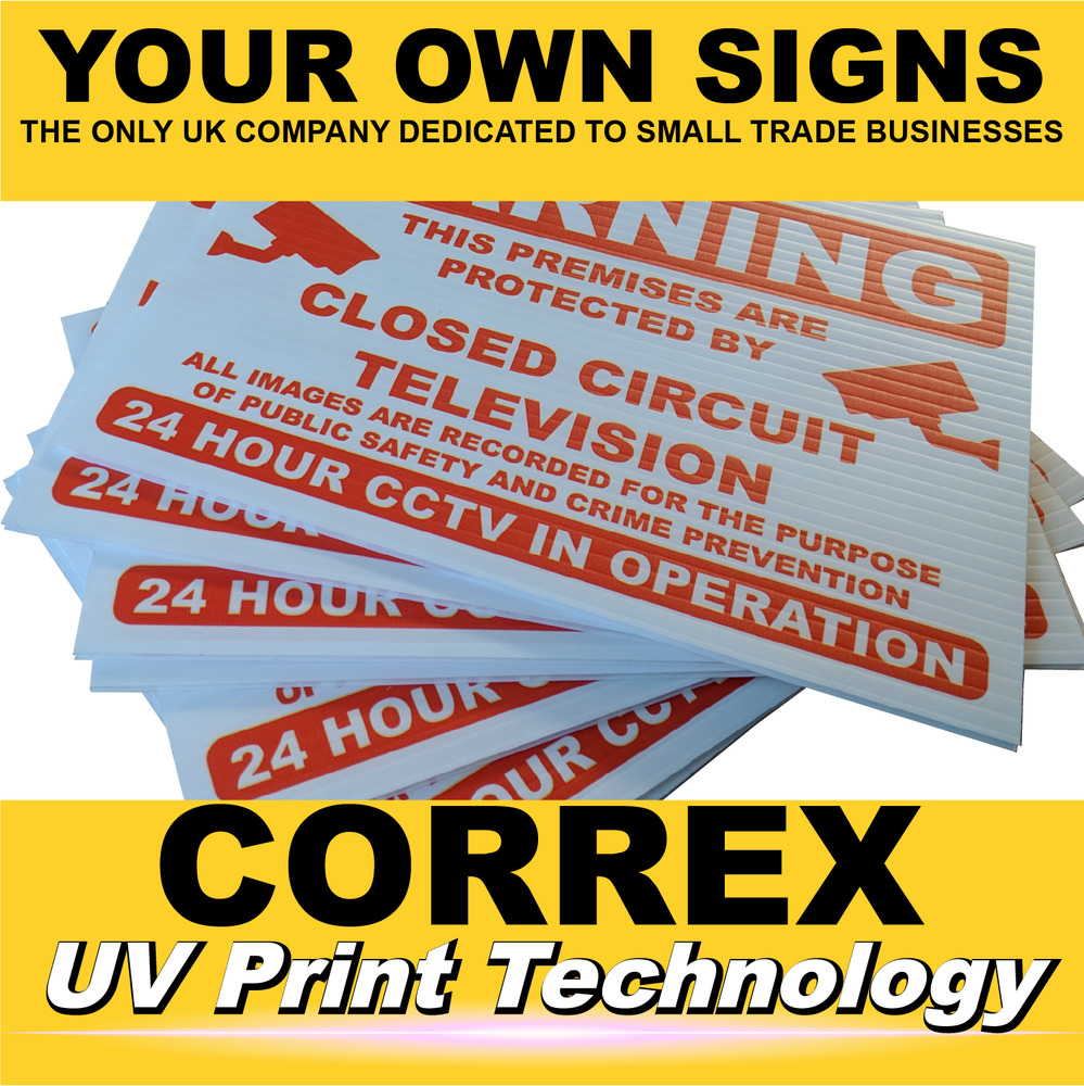 Details about custom correx signs same day printing fast reliable sign boards simple ordering