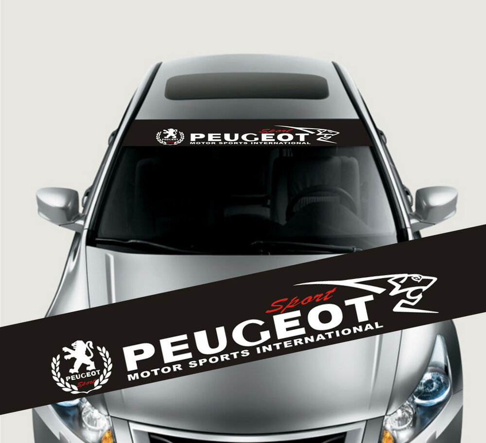 Details about reflective front windshield decal vinyl car sticker for peugeot auto window new