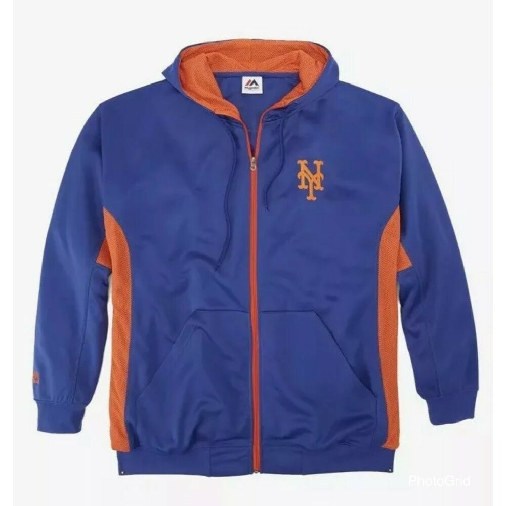 01fe77124 Details about Majestic MLB® New York Mets Logo Zip Front Jacket Big & Tall  3XL 4XL 5XL