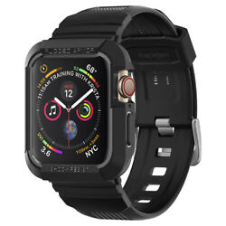 Kyпить Apple Watch Case Series 6/5/4/SE (44mm) Spigen® [Rugged Armor Pro] Black на еВаy.соm