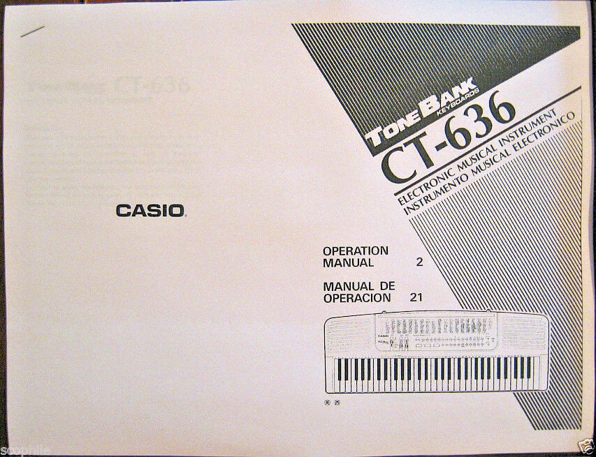 Owner's user's operating manual for casio casiotone ct-607.