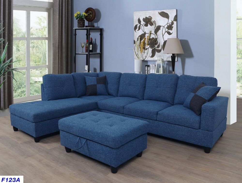 Lifestyle Furniture 3pc Sectional Sofa Set With Free