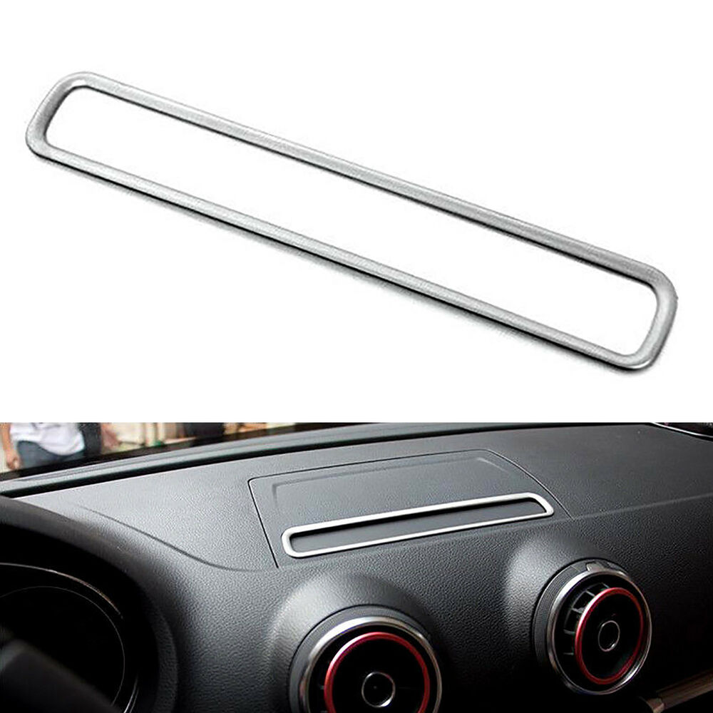 Interior Dashboard Console Gps Navigation Frame Cover Trim For Audi