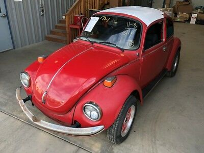 1974 VOLKSWAGON Super Beetle SALVAGE THEFT RECOVERY (BAD ENGINE)  Rebuildable VW